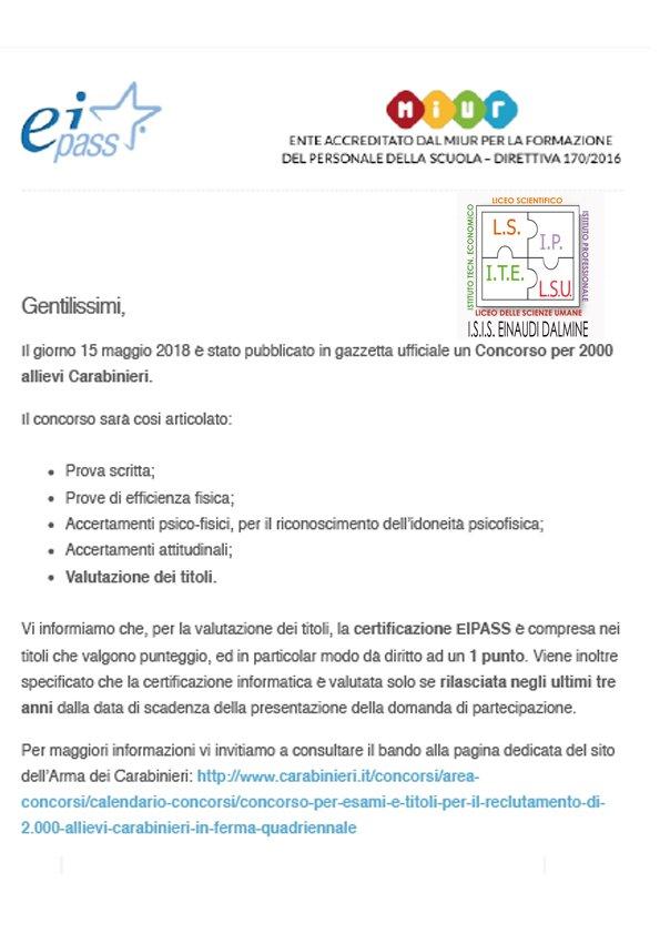 Calendario Concorso Carabinieri.I S I S L Einaudi Dalmine Bg On Twitter Il Giorno 15