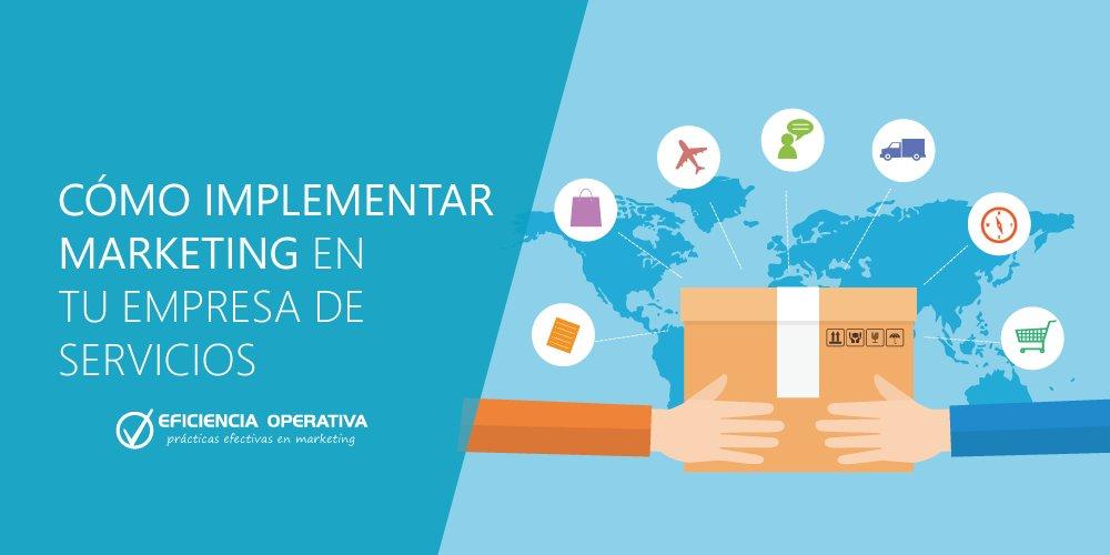¿Tienes una empresa de servicios y no sabes cómo implementar marketing? No esperes más, aprende ahora a implementar marketing en tu empresa de servicios. https://www.eficienciaoperativa.com.co/como-implementar-marketing-en-tu-empresa-de-servicios/…. #mercadeo, #marketing, #pymes, #PymesUnidas, #Mercados, #ventas, #mejoresprácticasempresariales ,