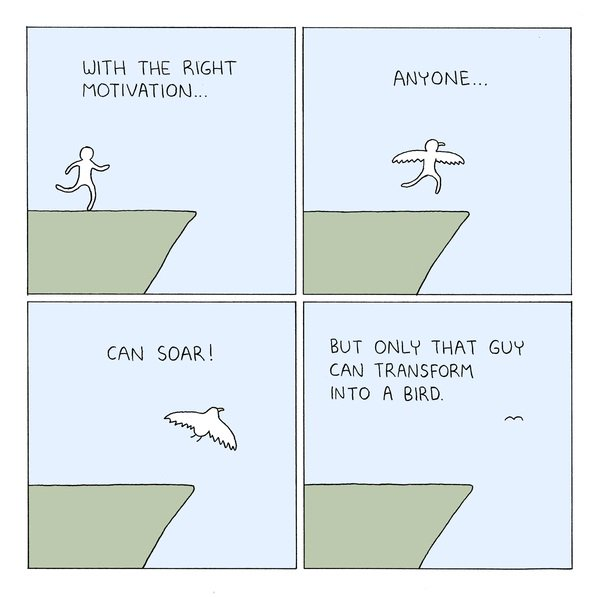 With the right motivation…  @PDLcomics #gocomics #comics #mondaymotivation https://t.co/TXZyT17Qya