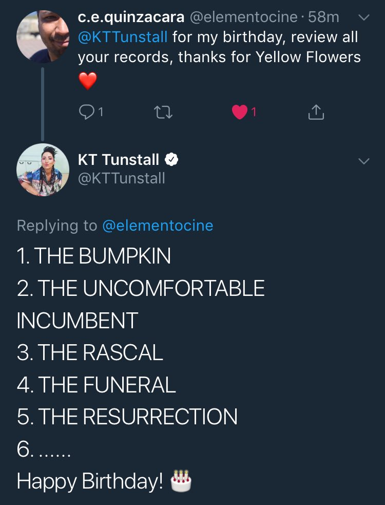 Kt Tunstall Twitter I Was Asked To Review All My Albums By