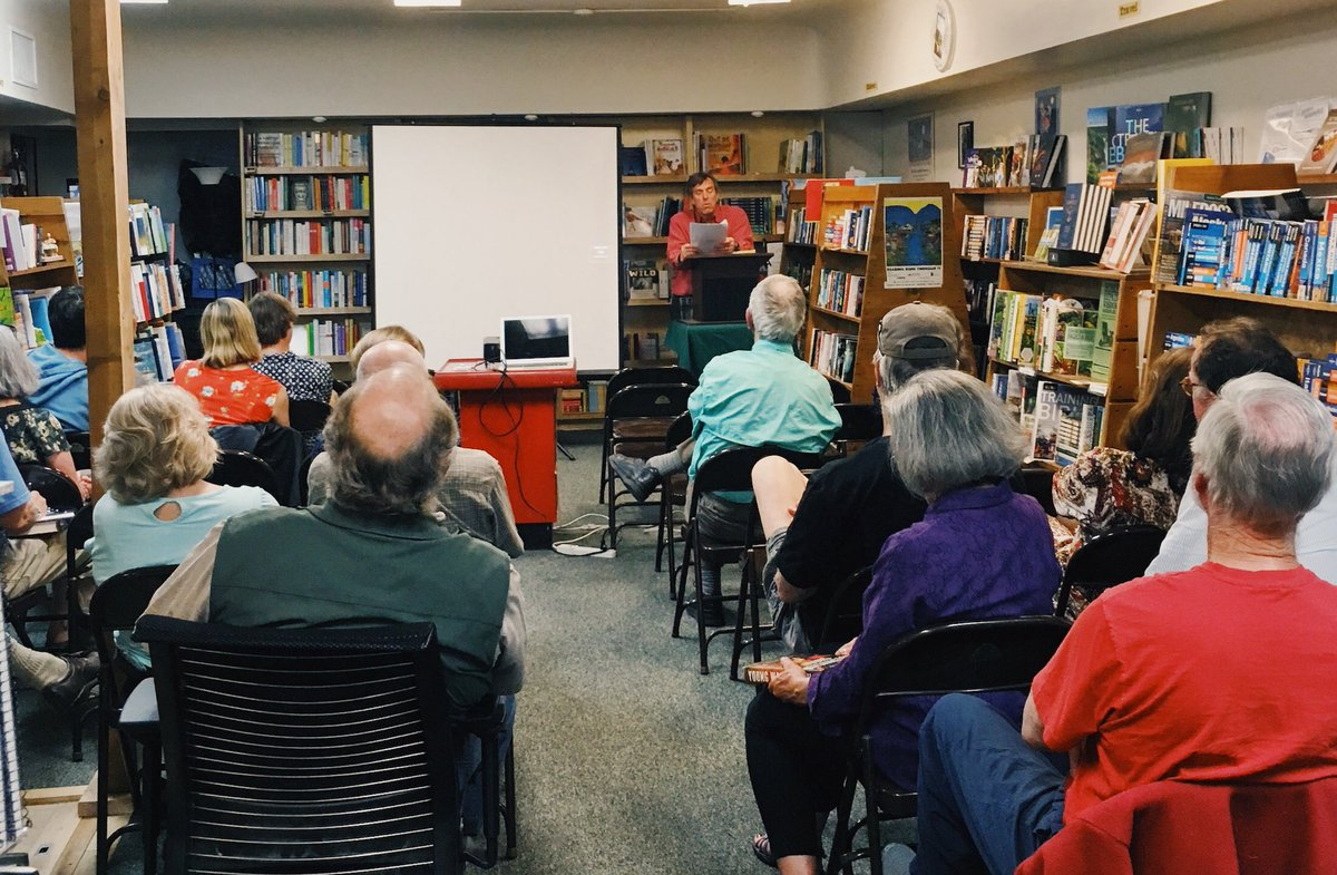 Full House For Peter Stark, Reading And Presenting From YOUNG WASHINGTON On  A Beautiful Evening In Missoula.pic.twitter.com/ShxhvqoU2w