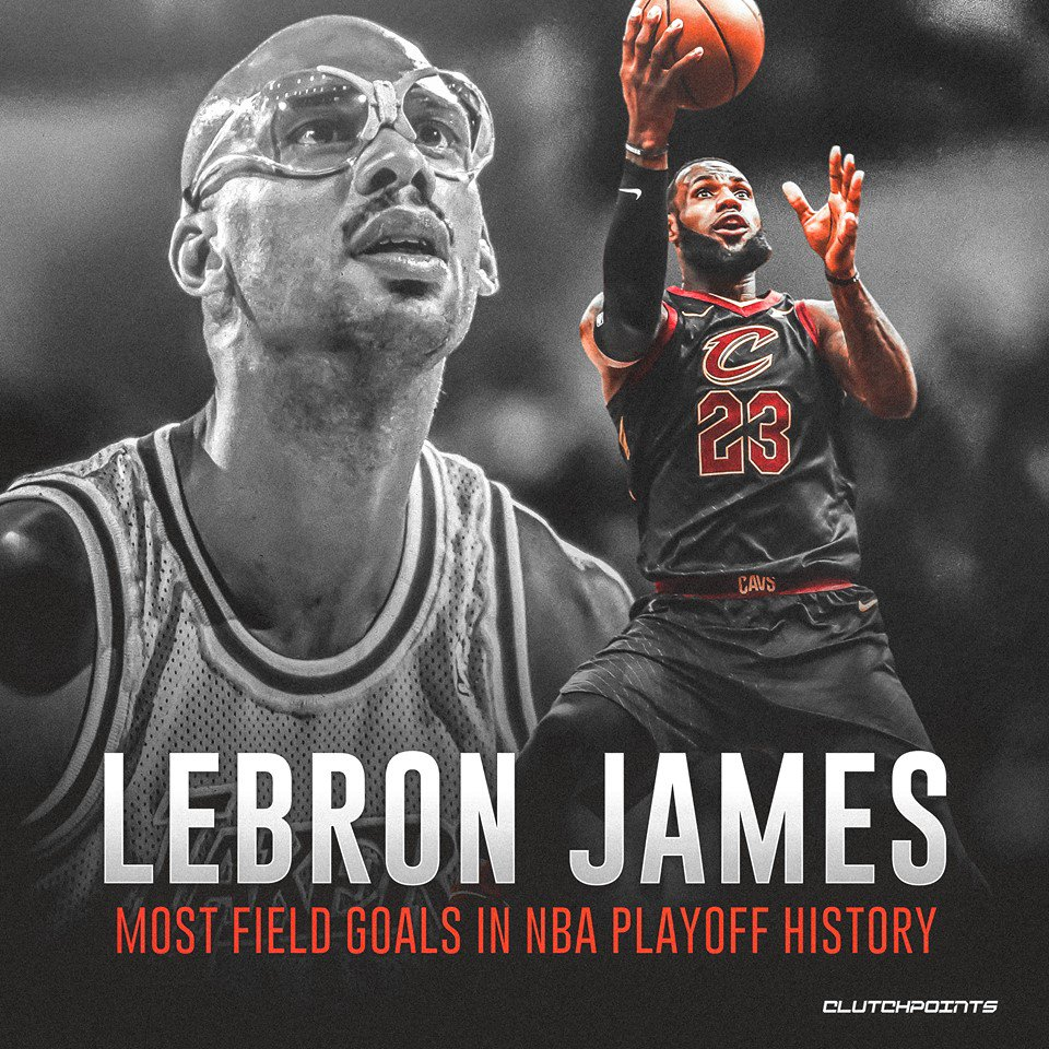 18d4aa3be96 ... of all-time greatness. LeBron James passes Kareem Abdul-Jabbar for most  playoff field goals a year after passing Michael Jordan for most playoff  points.