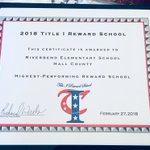 Image for the Tweet beginning: 2018 #Title1 Highest Performing Reward