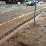 Image for the Tweet beginning: Muddy mess Henley Beach Rd.