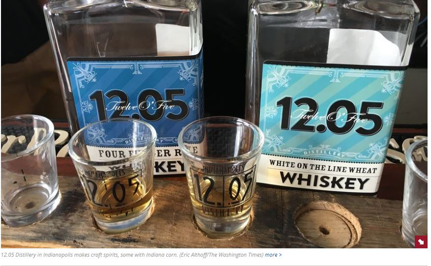 Best Local Whiskey Brands in Indianapolis and White on the Line Wheat Whiskey by 12.05 Distillery