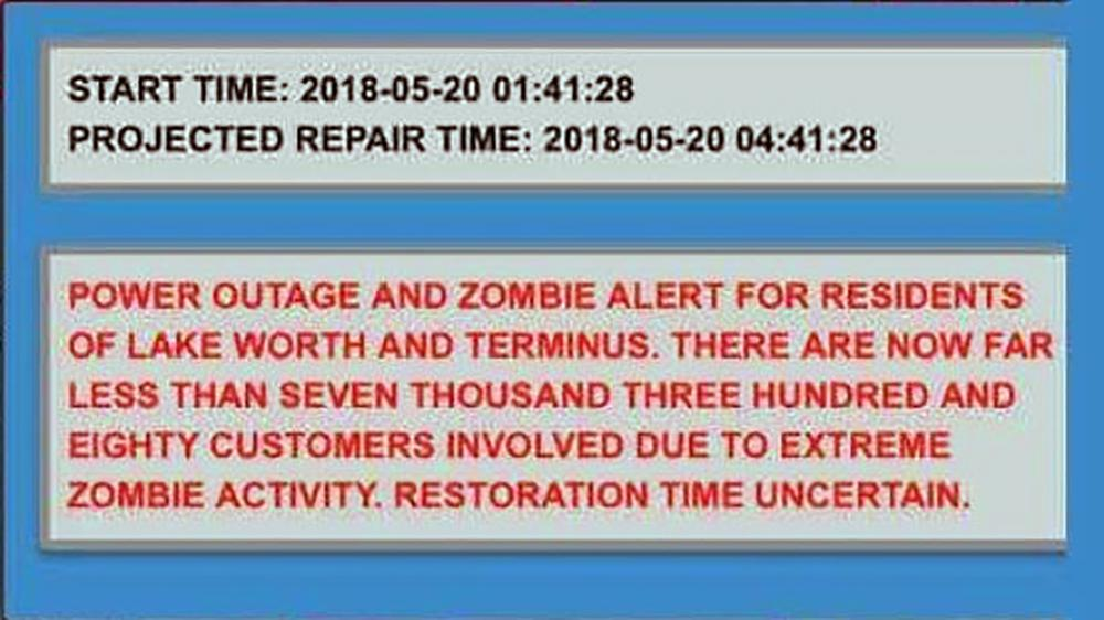 BREAKING: Lake Worth falsely sends out 'zombie' alert during power outage https://t.co/LJOVesWFVU https://t.co/7D5HPQovga
