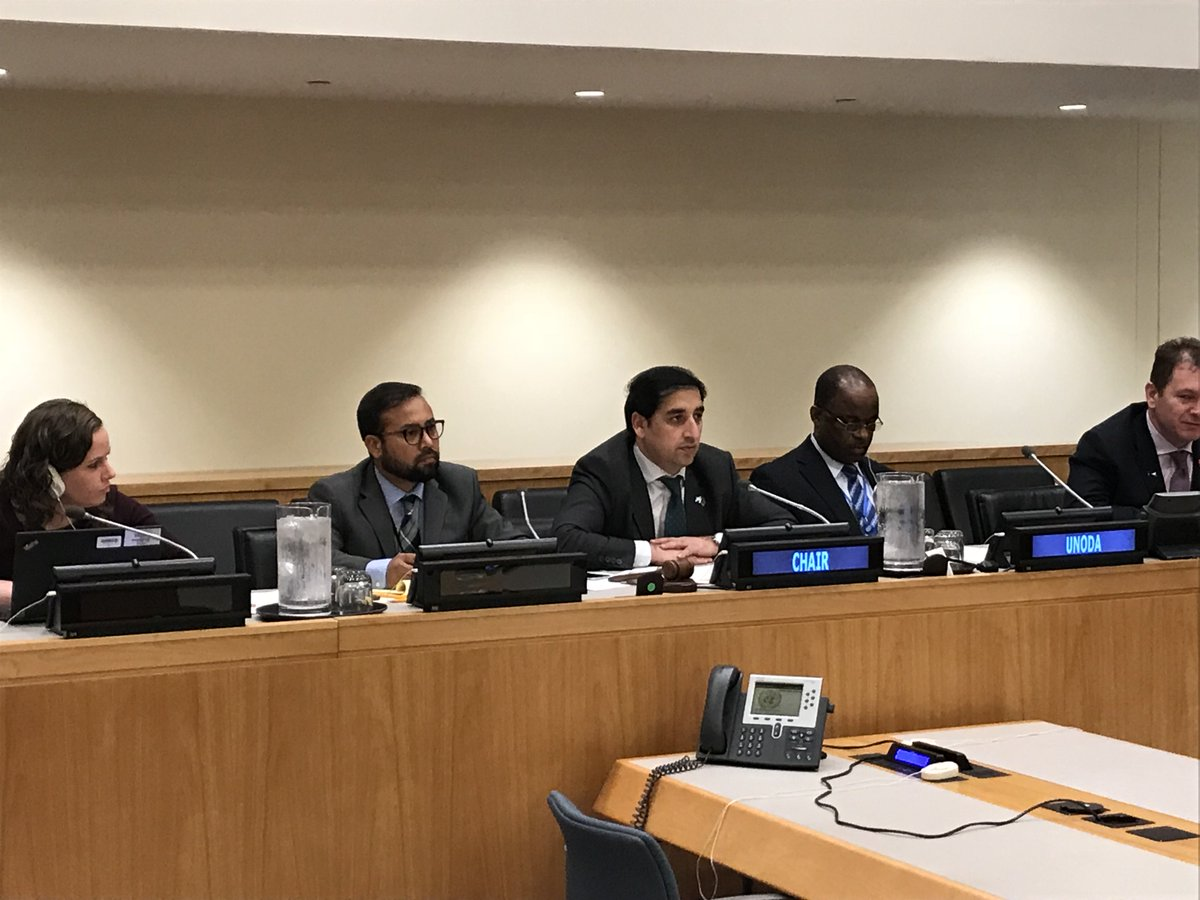 @AfghanMissionUN chairs 2nd informal consultations on Improvised Explosive Devices #IEDs pursuant to GA resolution 72/36 with a focus on precursor materials, engagement with industry, contribution of standards, best practices & guidelines to mitigating & preventing the IED threat