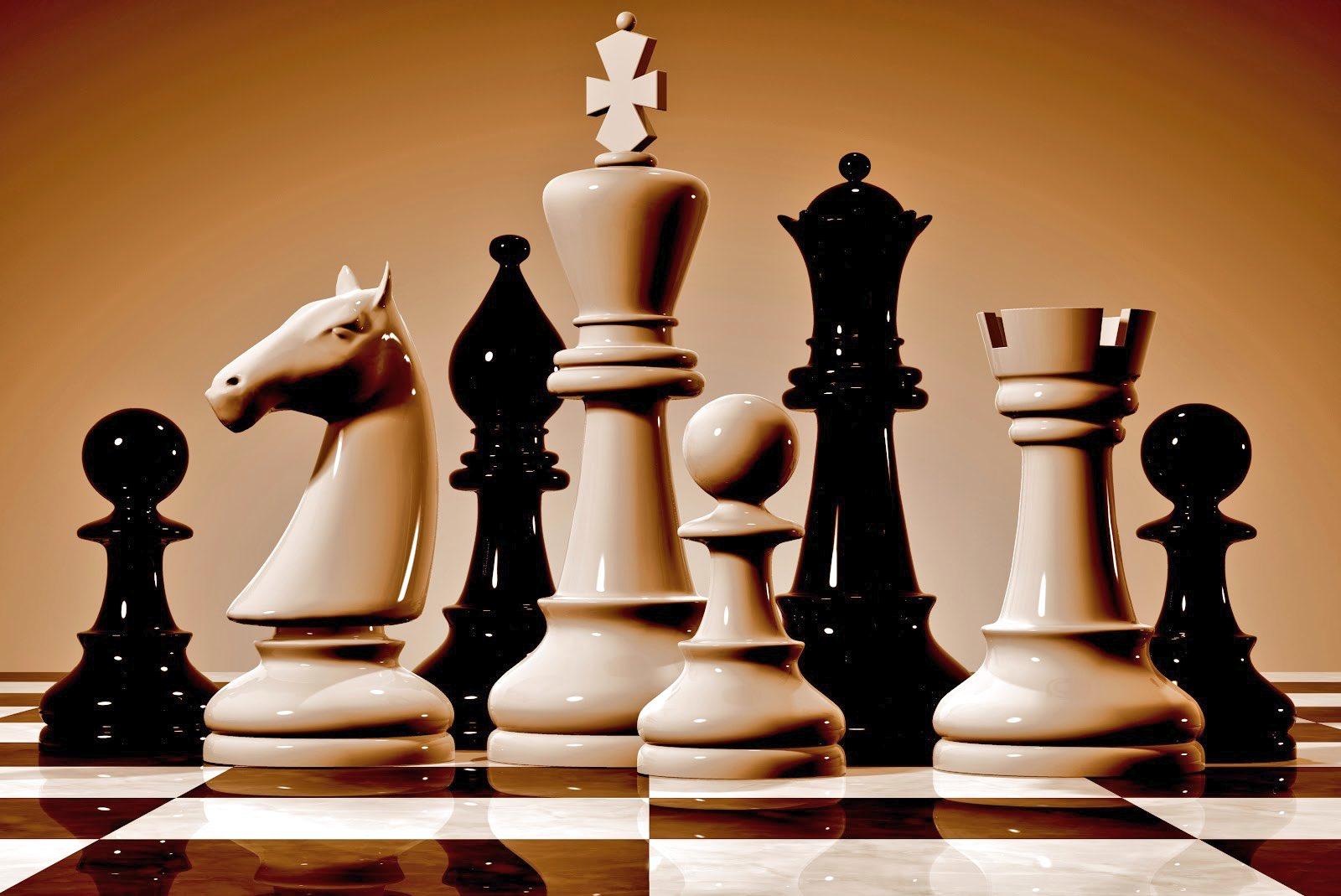 Картинка с шахматами, фотошопе сделать тиснение