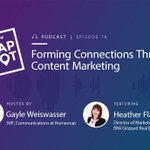 """.@HeatherEFlack says #realestate agents should try #contentmarketing b/c it builds connections and """"really positions them as that local real estate expert."""" Hear our full chat on this week's Snapshot podcast 🎙: https://t.co/dAVVLWvpMK"""