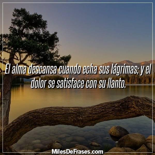 Frases En Imágenes På Twitter El Alma Descansa Cuando Echa