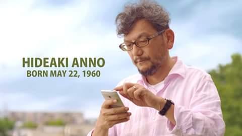 Happy birthday hideaki anno writer and director of evangelion