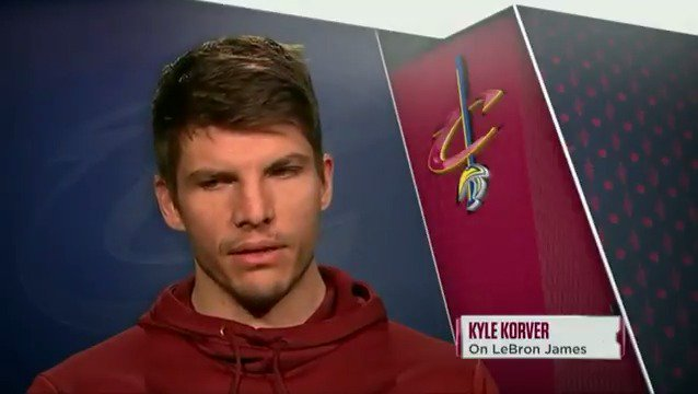 Kyle Korver shares his thoughts on LeBron's leadership ability and determined work ethic. #WhateverItTakes https://t.co/5SK3tbxor5