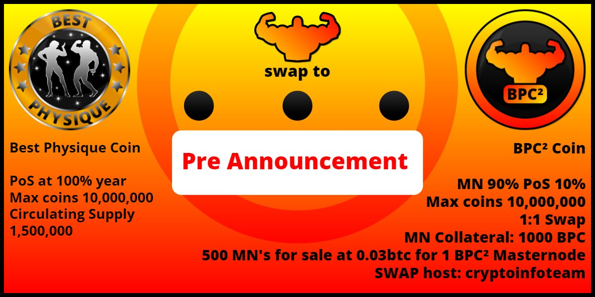 This is a great news for BPC holders! Pre announcement for swap on ANN:  https:// bitcointalk.org/index.php?topi c=2773898.new#new &nbsp; … <br>http://pic.twitter.com/W1o0ZMoXGi