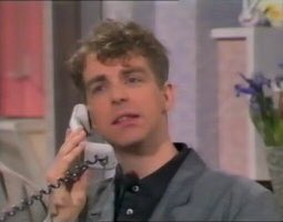 """""""Hello, is Chris home? I wanted to ask if he'd be interested in starting a synthesizer band where I talk with a posh accent, and he stands behind me doing nothing while wearing a sailor cap."""" <br>http://pic.twitter.com/LnHgn9zhlU"""