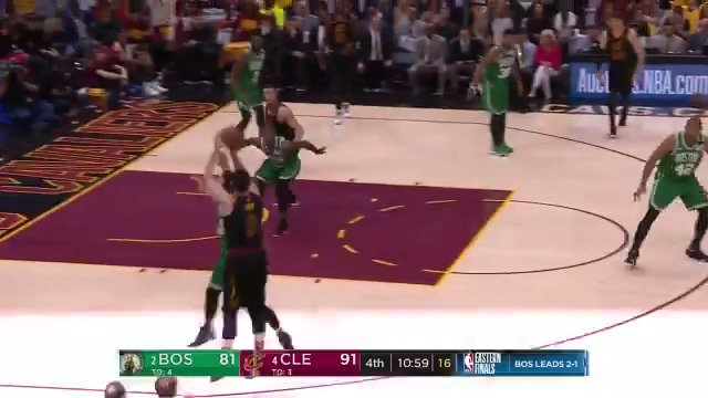 Kevin Love quick catch and release! ��  @cavs up 11 early in the 4th on @ESPNNBA   #WhateverItTakes https://t.co/b1Kh9HaxJM