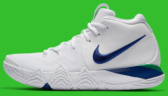 17b111806373 The Nike Kyrie 4 doesn t come much cleaner than this white deep royal  colorway  use promo code GET20NOW to cop for  96 + FREE US shipping  ...
