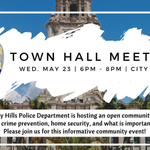 Image for the Tweet beginning: BHPD is hosting an open