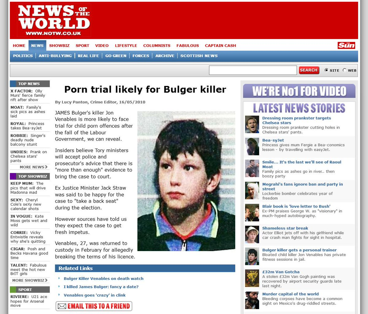 Jamie Bulger Killer auf Dating-Website