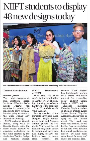 Dpro Ludhiana On Twitter Niift Set Up By Punjabgovtindia Is All Set To Hold Anukama 2018 A Graduating Show For The Fashion Design Fd And Fashion Design Knits Departments In Ludhiana Today