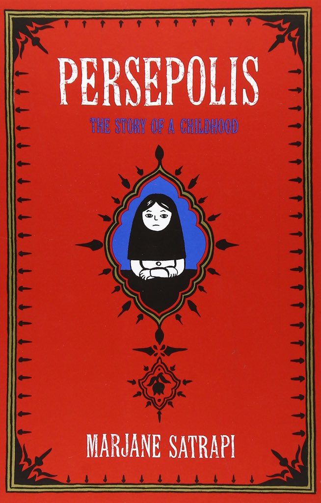 a beautiful autobiographical emphasis on the graphical novel about growing up in iran during the rise of fundamentalism and war clever poignant sad