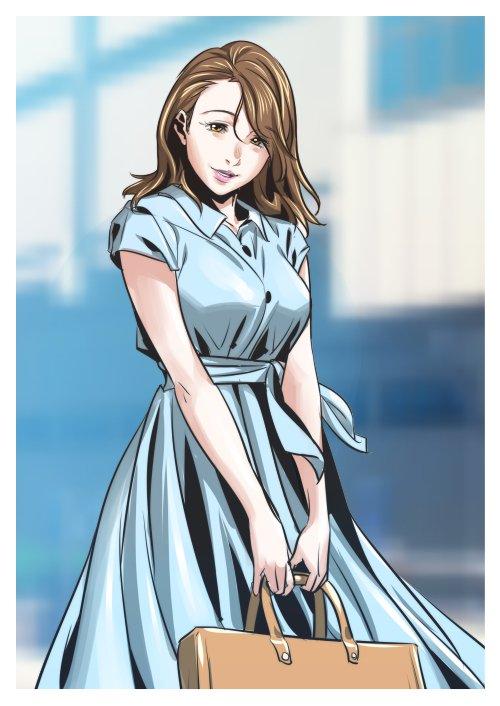 【懲りない男のコンテスト用ラクガキ】Vチューバ―の次は「pixiv summer girls collection 年上彼女」に挑んでみようという事で描きました^p^ やっぱ年上彼女でそ♪