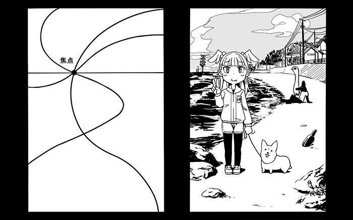 焦点にキャラクターを配置して目立たせる✨ 視線誘導から考える構図の作り方講座💡