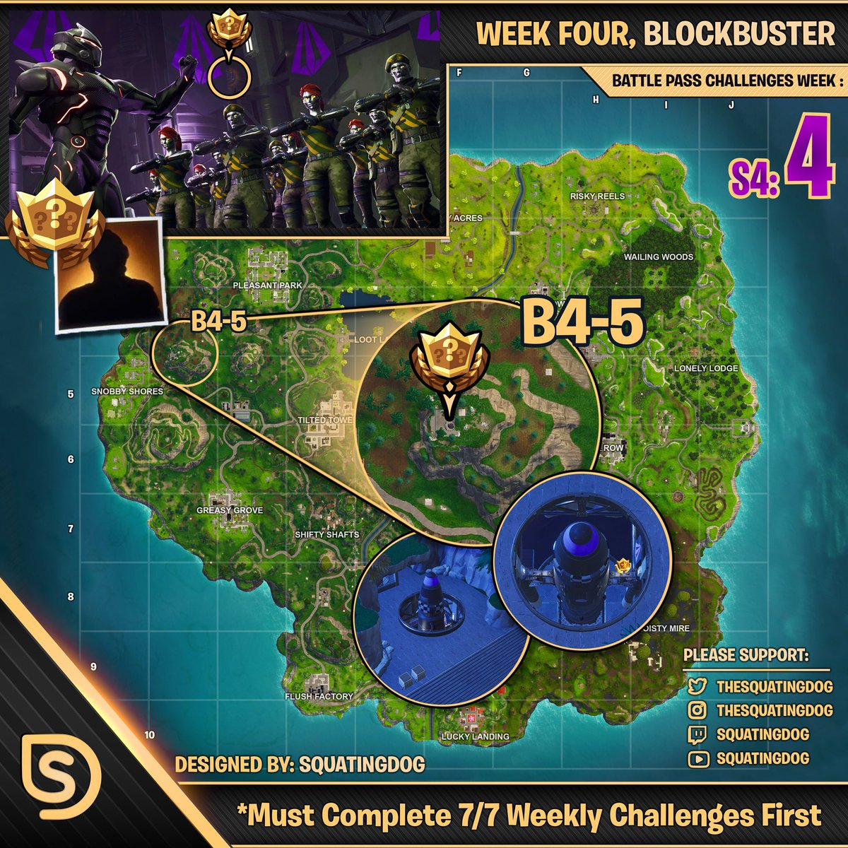 Whats Blockbuster In Fortnite Squatingdog On Twitter Retweet Tag A Friend Who Needs The Week 4 Blockbuster For Fortnite Battle Royale S Battlepass By Thesquatingdog Asap Fortnite Fortnitebr Fortnitebattlepass Fortnitecheatsheet Https T Co Rkcudnwawv