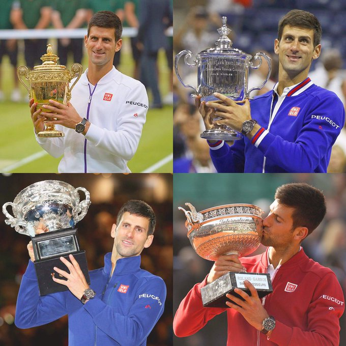 12 grand slams  68 career titles in total  One of the all-time greats... Happy 31st birthday to Novak Djokovic!