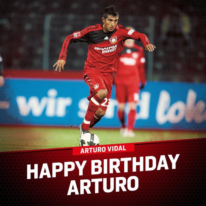 HAPPY BIRTHDAY Also celebrating a birthday today, Arturo Vidal!   Happy 31st