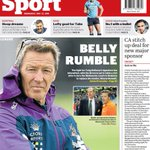 Image for the Tweet beginning: Tomorrow's @SMHsport back page: The