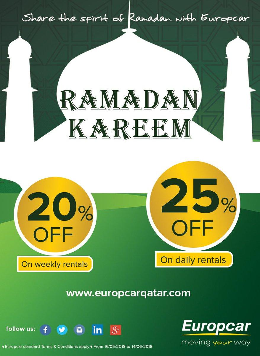 Europcar Qatar On Twitter Ramadan Offer Upto 25 Share The