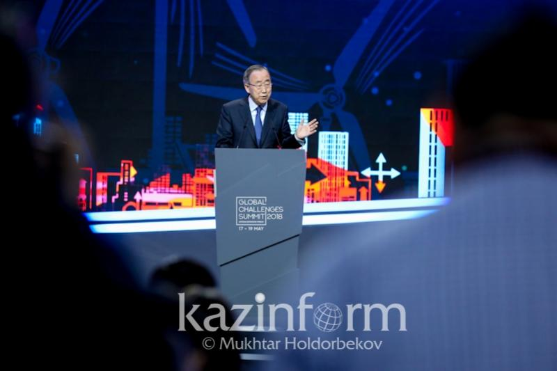 """&quot;I would like to note the obligation Kazakhstan has assumed is that 50% of all its energy will be generated by alternative sources."""" – #BanKimoon congratulated Kazakhstan for taking the initiative in #greeneconomy at the #GlobalChallengesSummit2018.  https://www. inform.kz/en/kazakhstan- takes-lead-in-striving-for-green-economy-ban-ki-moon_a3255321 &nbsp; … <br>http://pic.twitter.com/hLKoYF3tGv"""