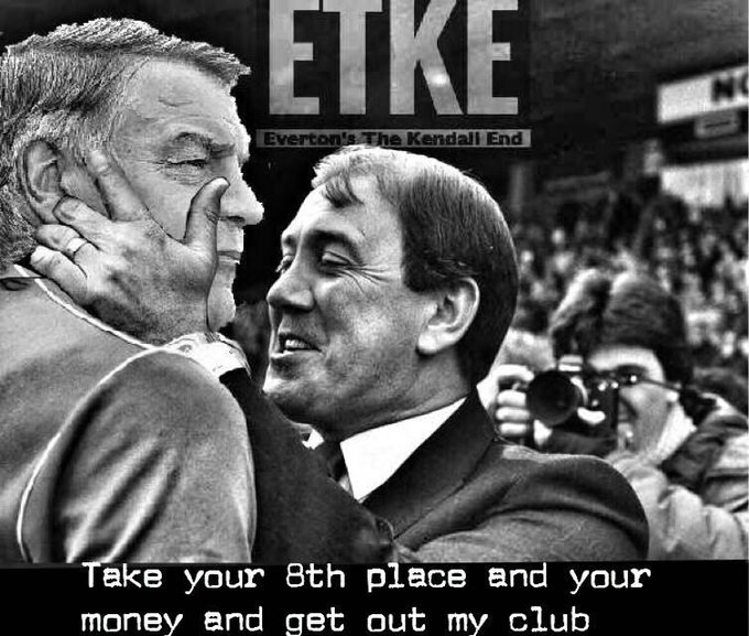 Howard Kendall\s blue and white army, happy birthday H x