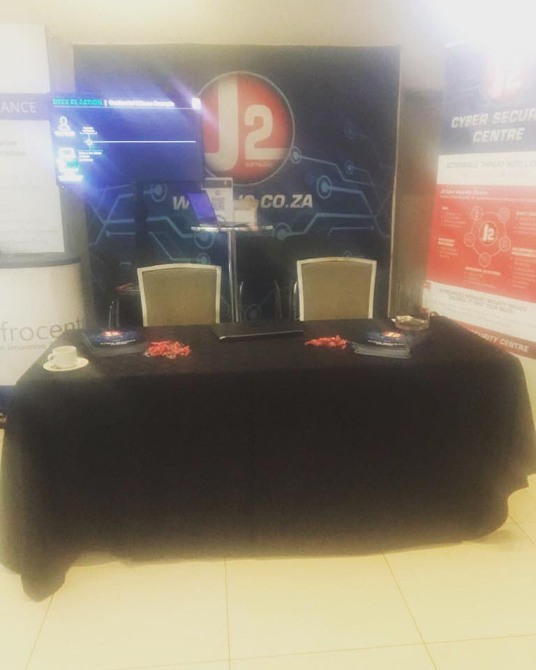 Our stand at the ITWeb Security Summit, Come say hi!   #J2Software #J2CSC #J2infosec #infosec #conference #business #summit #cybersecurity #johannesburg #cyberattacks #encryption #cybercrime #information #technology #cyberinafrica #proudlysouthafrican<br>http://pic.twitter.com/TJ7jJWffly