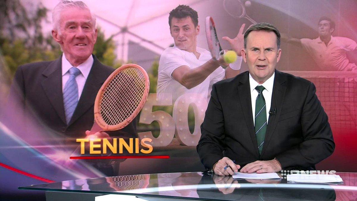 Image for the Tweet beginning: Tennis great Ken Rosewall has