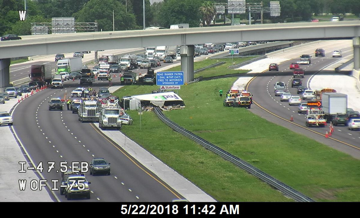 Abc Action News On Twitter Traffic Update Fhp Says The Accident Involving An Overturned Fedex Truck Involves A Fatality