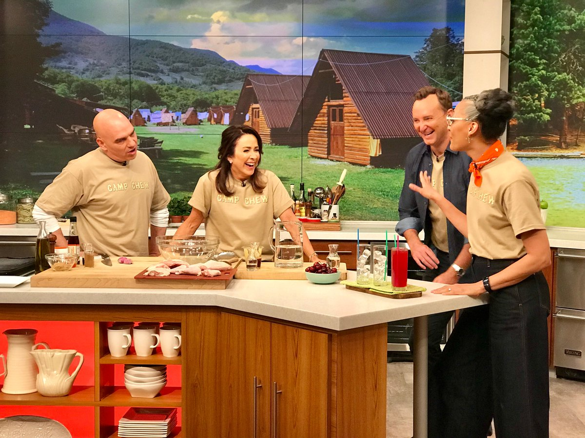 .@TheMiddle_ABCs @PatriciaHeaton is joining us at Camp Chew! Dont miss an all-new episode of #TheChew at 1e|12c|p on ABC!