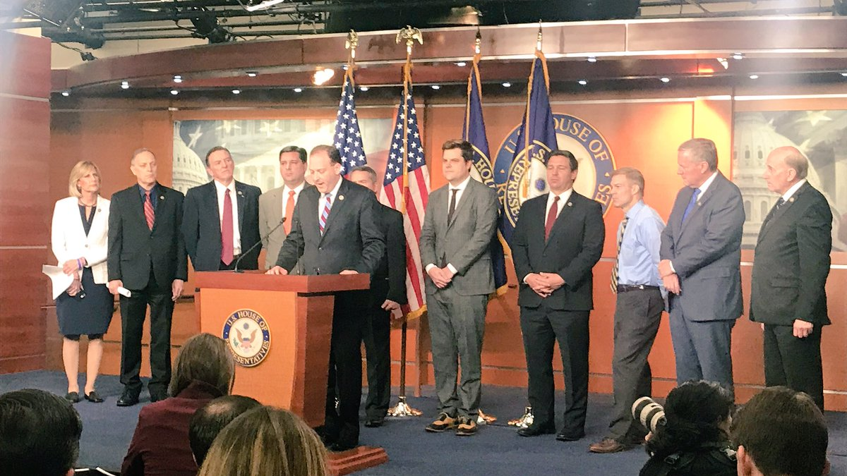 HAPPENING NOW: I am joining @RepLeeZeldin and my House colleagues to announce the introduction of a resolution detailing misconduct at highest level of DOJ/FBI.