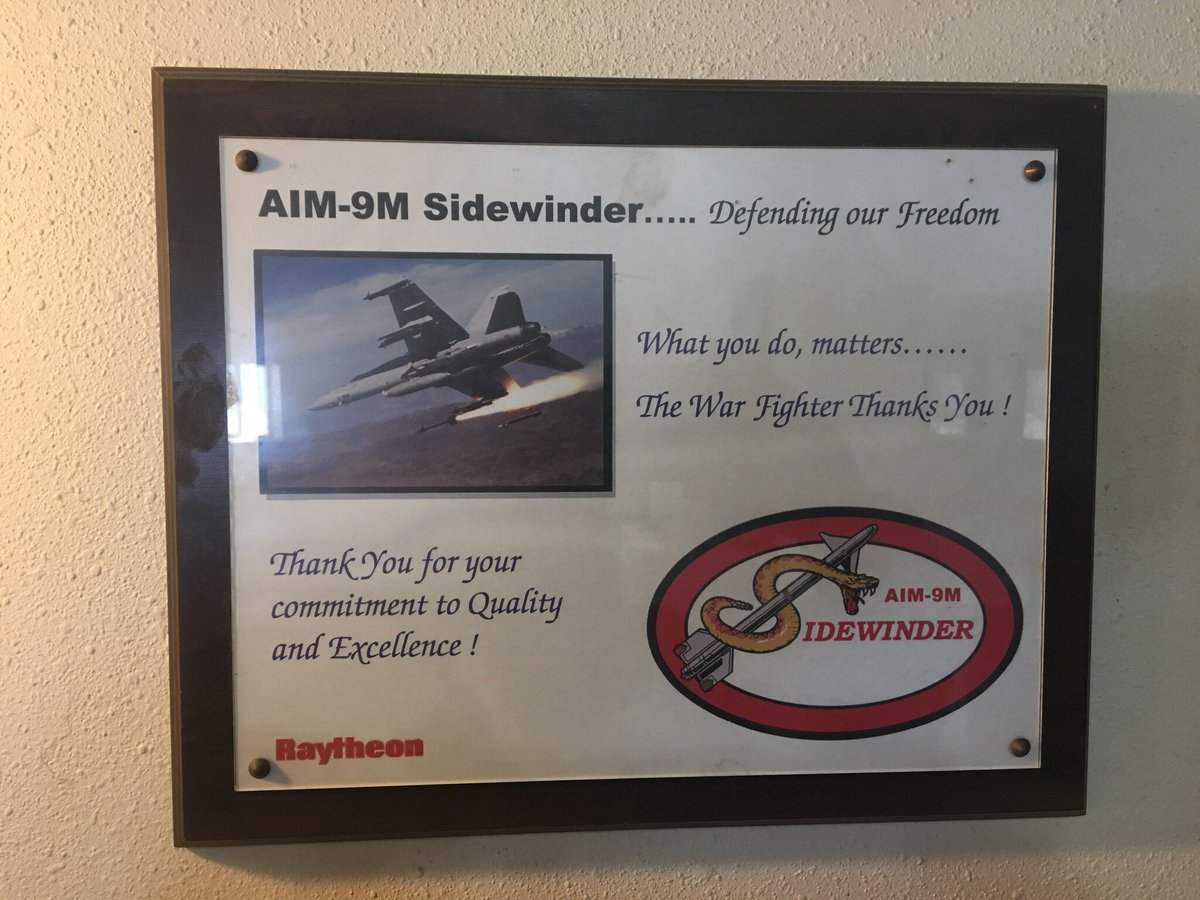 A nice certificate we received 15 years ago from @Raytheon when we helped build the missiles for the AIM-9M Sidewinder.  We are proud to stand with our country and do a small part to defend our land. $ADAC #USA #GodBlessAmerica #AirForce