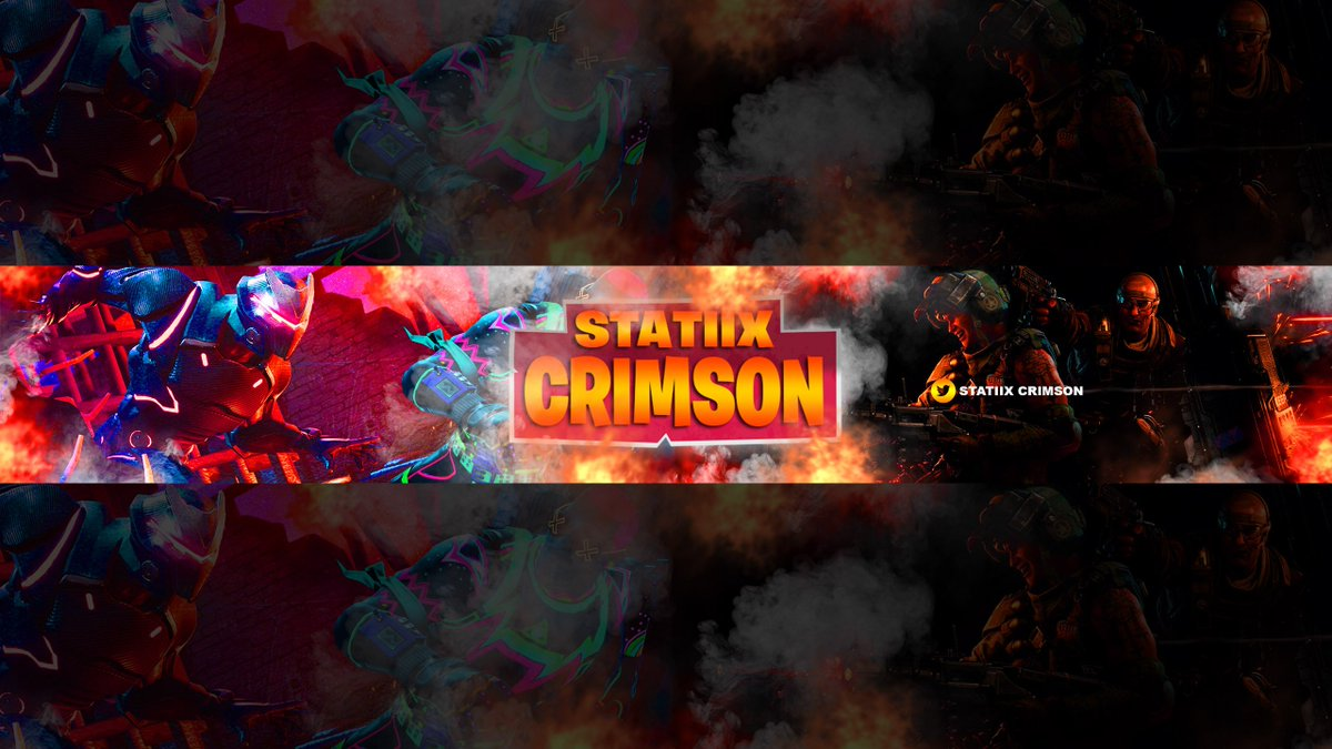 Thetrollpig On Twitter Youtube Banner For Statiixcrimson Fortnite