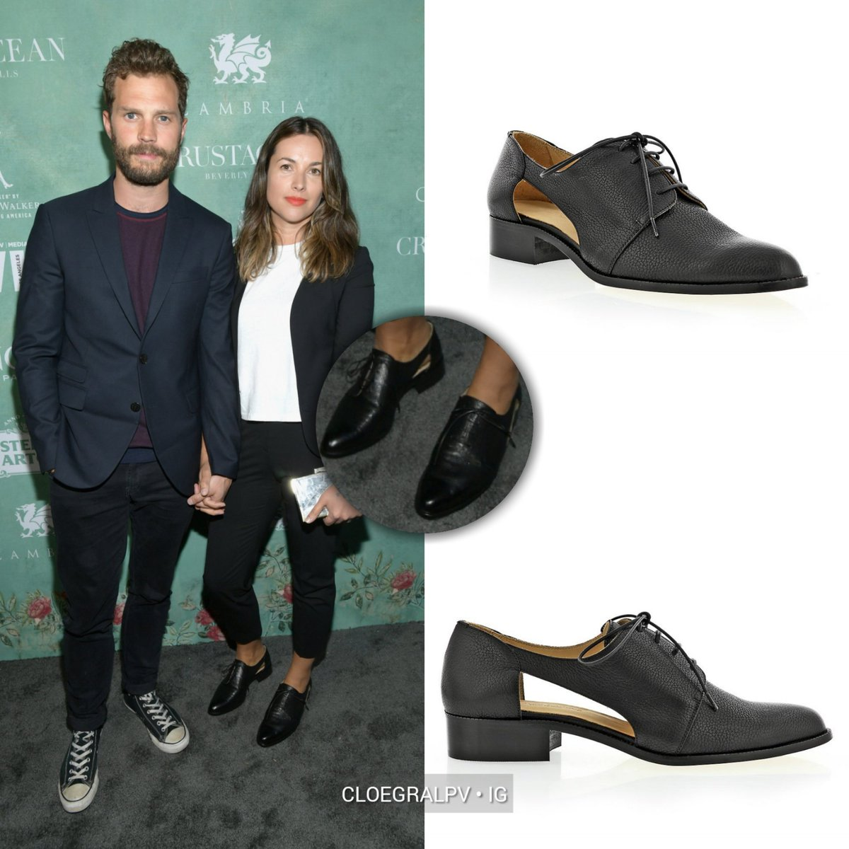 • NEW FIND • Amelia with Jamie at the Women in Films Pre-Oscar Party, LA |March 2nd, 2018| wearing #MarcoPadova Cutout Pointed Laceup Loafer ($485) worn with @theory__ Good Wool Clean Blazer ($395) and Good Wool Classic Slim Crop Pants ($275) and @vincecamuto Yoko Clutch<br>http://pic.twitter.com/klcHRiG4YW
