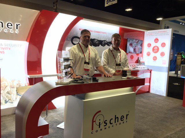 Visit #FischerConnect at SOFIC to discover the latest #connectivity trends in #defense: #datatransfer, miniaturization, sealing. @Tassman60 will be delighted to present you our breakthrough #wearable LP360 connector ideal for integration into vests &amp; devices. @NDIAToday <br>http://pic.twitter.com/xtyIt1PeqS