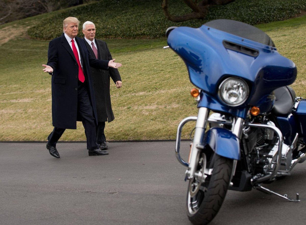Richard Hine On Twitter President Trump And VP Pence Bid Harley Davidson Bon Voyage As The Highly Profitable US Company Uses Its Corporate Tax Breaks To