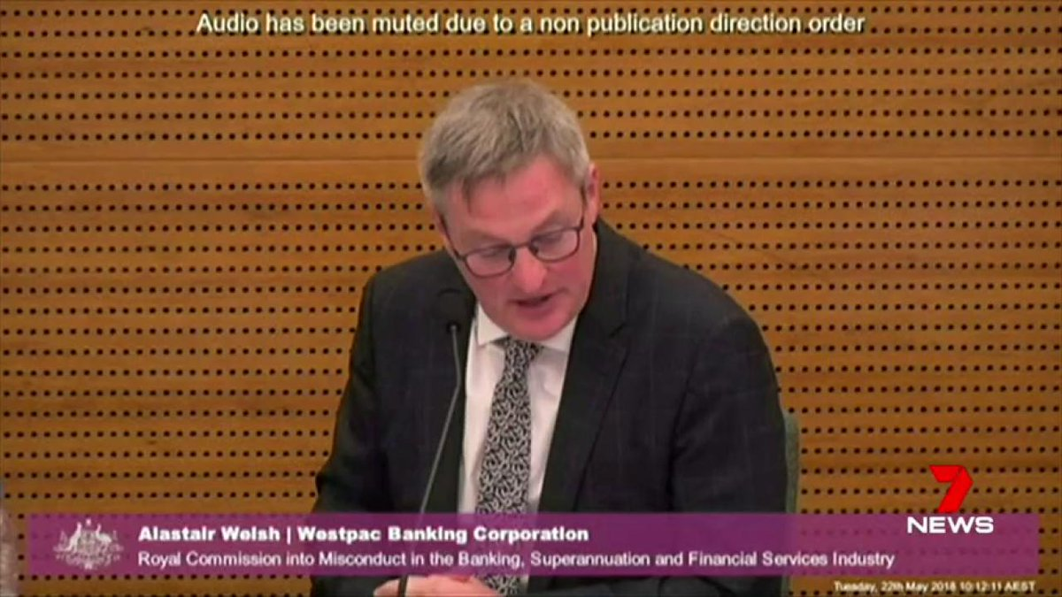 Image for the Tweet beginning: The Banking Royal Commission has