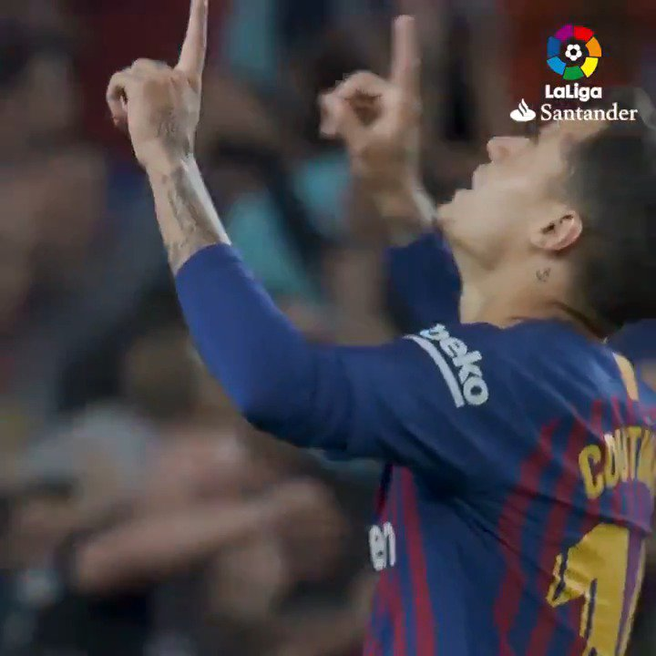 What emoji best describes @Phil_Coutinho stunning strike at Camp Nou?! �� https://t.co/GAwjkKHeqw
