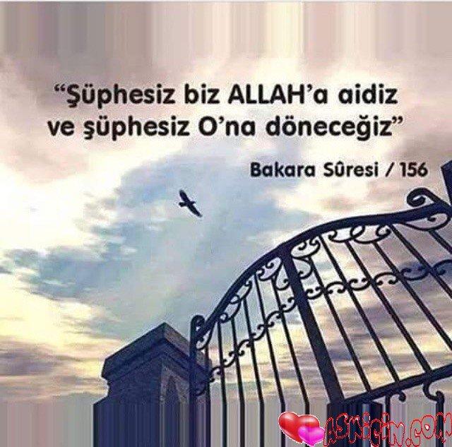 ŞÜphesiz Biz ALLAH 'a Aidiz – Resimli Sözler