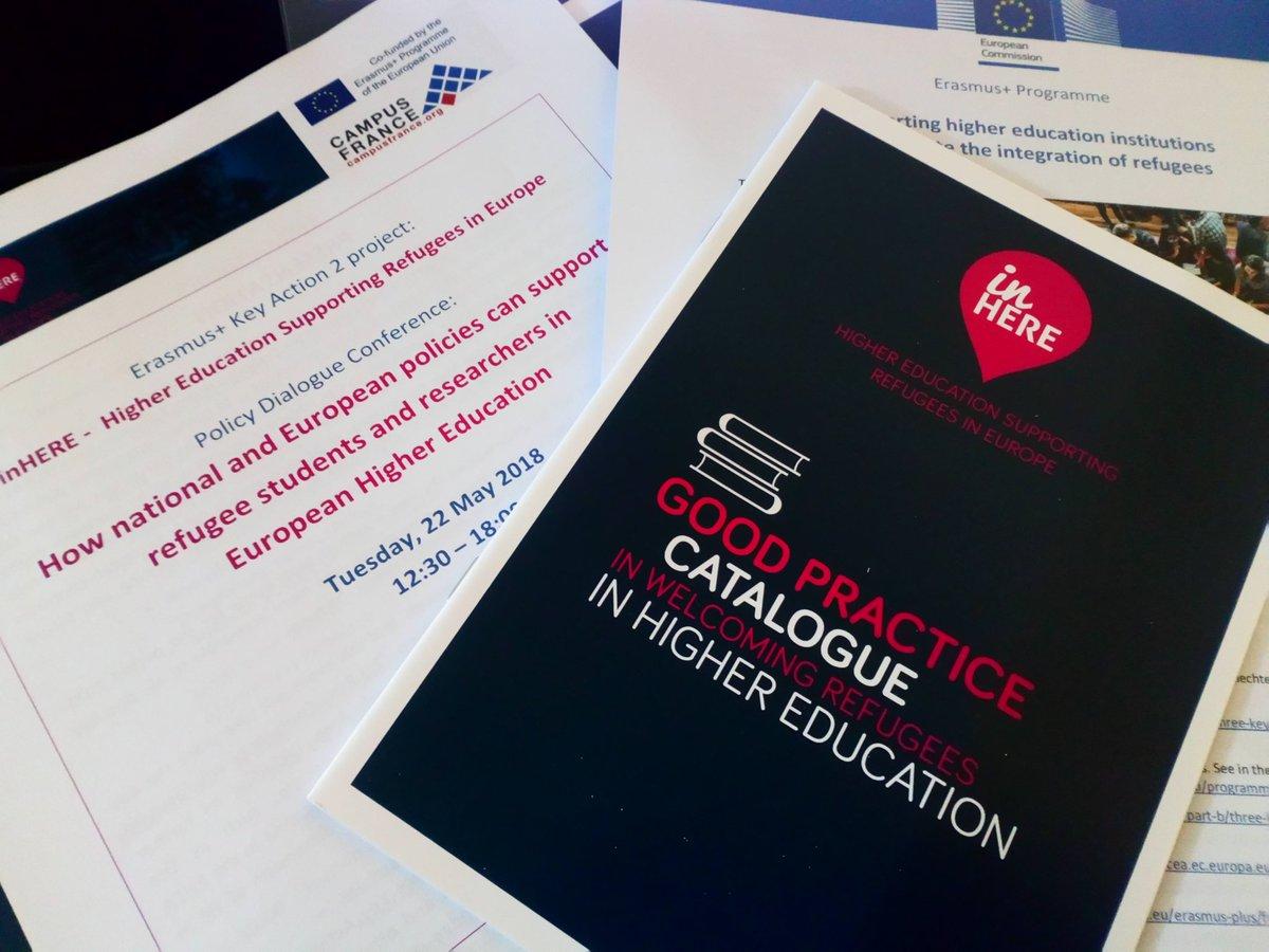Policy Dialogue Conference #inHERE &quot;Higher Education Supporting Refugees in Europe&quot; organisée par @CampusFrance dans le cadre des célébrations du #ProcessusDeBologne. L&#39;@universitereims s&#39;engage pour l&#39;amélioration de l&#39;accueil des étudiants et chercheurs réfugiés en #Europe.<br>http://pic.twitter.com/ufo5ozXXGS