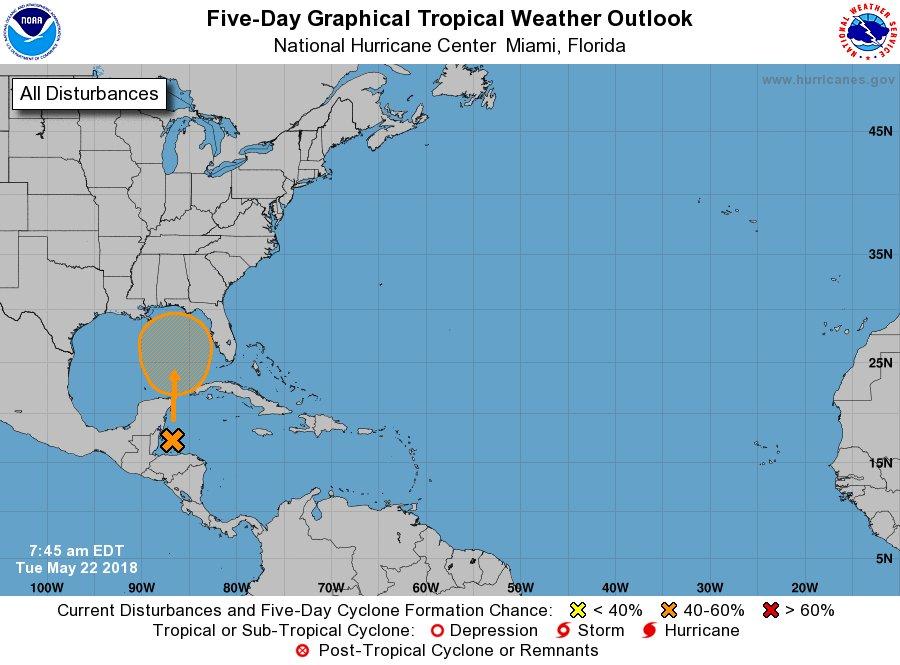 test Twitter Media - Special Tropical Weather Outlook: Surface low east of Belize has 40% chance of development in 5 the next days. Perspectiva especial sobre condiciones del tiempo tropical: Baja presión al este de Belice, tiene 40% de probabilidad de desarrollo en los próximos 5 días. #prwx #usviwx https://t.co/AmK2KvsIzu