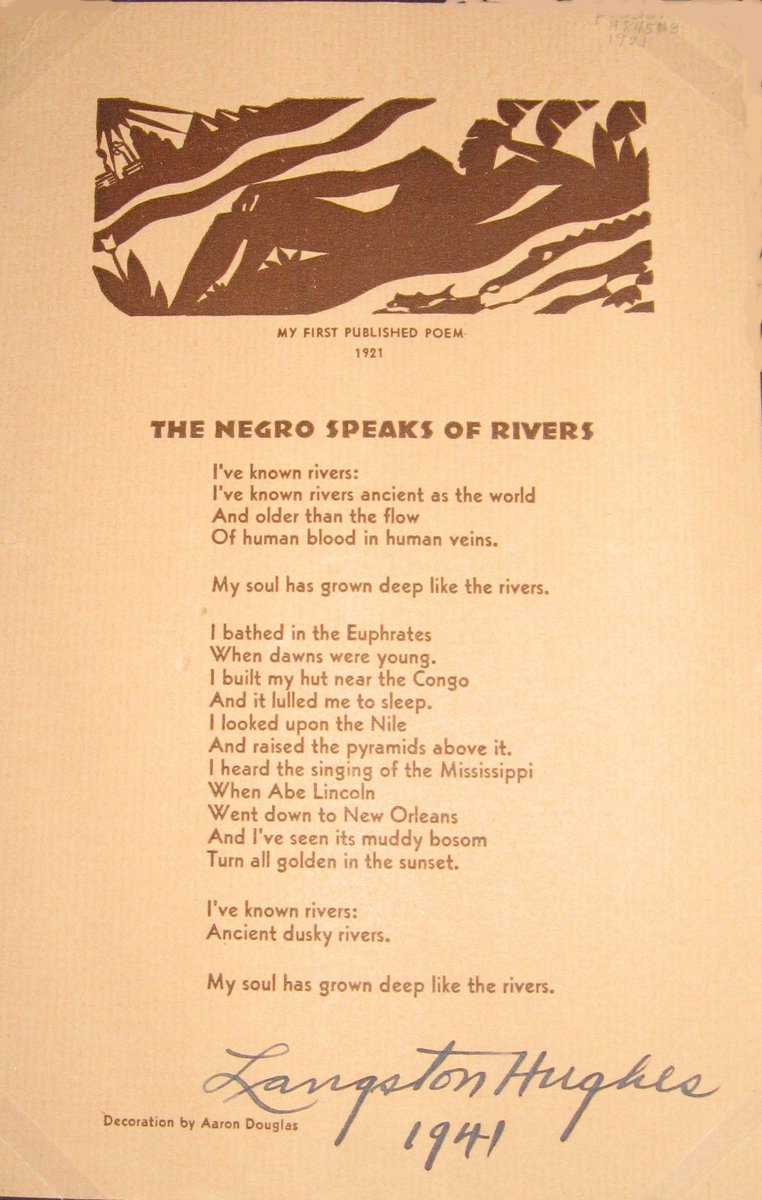 langston hughes the negro speaks of rivers analysis