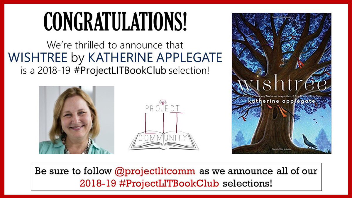 We're thrilled to announce that WISHTREE by @kaaauthor is a 2018-19 #ProjectLITBookClub 📚💙